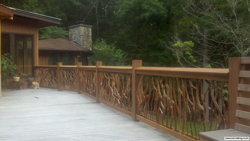 outdoor deck railing design branch handrail deck railing designs